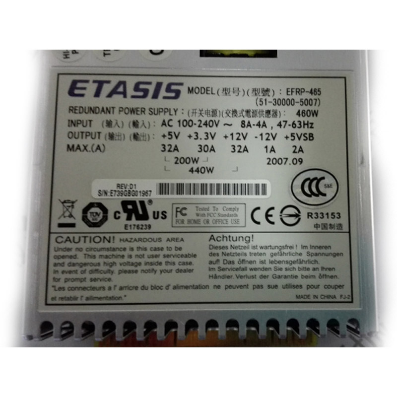 Power Supply for ETASIS EFRP-465